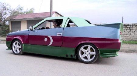 Masallı sakini qeyri-adi avtomobil düzəldib