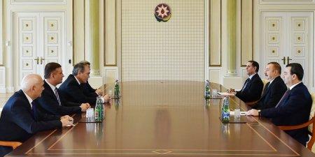Prezident İlham Əliyev Rusiya Dövlət Dumasının nümayəndə heyətini qəbul edib