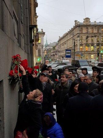 Ulu Öndərin xatirəsi anılıb - Sankt-Peterburqda