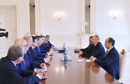 Azərbaycan Prezidenti İlham Əliyev Rusiyanın Həştərxan vilayətinin qubernatorunun başçılıq etdiyi nümayəndə heyətini qəbul edib