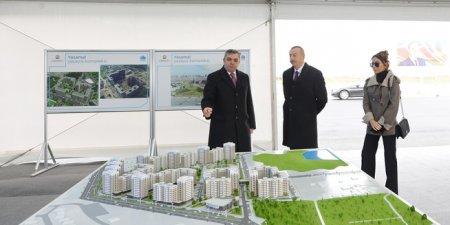 Azərbaycan Respublikasının Prezidenti İlham Əliyev MİDA-nın Hövsan Yaşayış Kompleksində ilk binanın təməlqoyma mərasimində iştirak edib