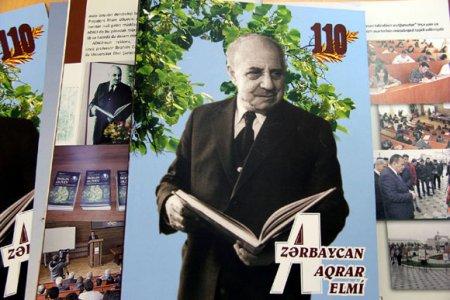 """""""Azərbaycan aqrar elmi"""" jurnalının xüsusi buraxılışı akademik Həsən Əliyevə həsr olunub"""