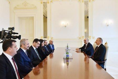 Prezident İlham Əliyev Türkiyənin əmək və sosial müdafiə nazirinin başçılıq etdiyi nümayəndə heyətini qəbul edib