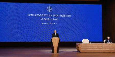 Yeni Azərbaycan Partiyasının VI qurultayı keçirilib