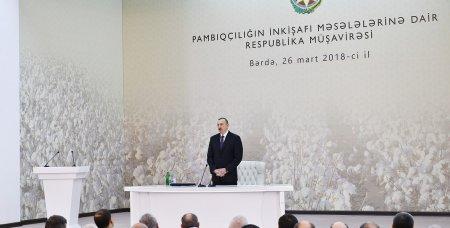 Prezident İlham Əliyevin sədrliyi ilə pambıqçılığın inkişafına dair respublika müşavirəsi keçirilib