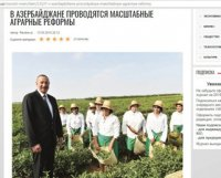 Özbəkistan portalı Azərbaycanda həyata keçirilən aqrar islahatlar barədə yazır