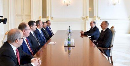 Prezident İlham Əliyev Türkiyənin ədliyyə nazirinin başçılıq etdiyi nümayəndə heyətini qəbul edib