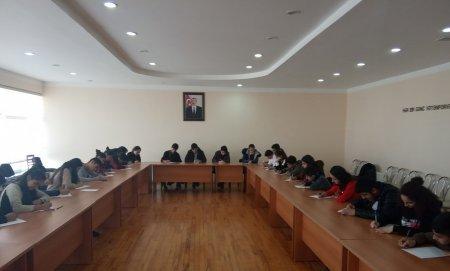 """Masallıda """"Ölkəmizi tanıyaq"""" tur-aksiya iştirakçıları arasında inşa müsabiqəsi keçirilib"""