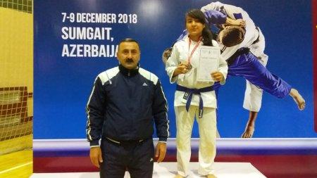 Masallı cüdoçusu beynəlxalq turnirdə bürünc medal qazanıb