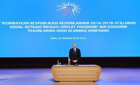 Regionların 2014-2018-ci illərdə sosial-iqtisadi inkişafı Dövlət Proqramının icrasının yekunlarına həsr olunan konfrans keçirilib