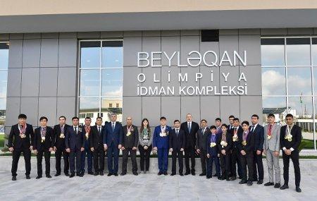 Prezident İlham Əliyev Beyləqan rayonuna səfərə gəlib