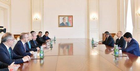 Prezident İlham Əliyev Türkiyə parlamenti sədrinin rəhbərlik etdiyi nümayəndə heyətini qəbul edib