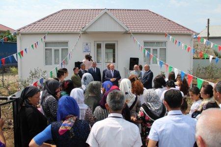Masallının Lürən kəndində yeni tibb məntəqəsi açılışı