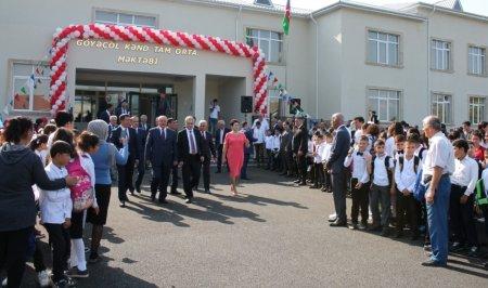 Masallı rayonunun Göyəçöl kəndində yeni məktəb binası istifadəyə verildi