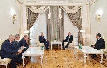 Prezident İlham Əliyev Belarus Təhlükəsizlik Şurasının dövlət katibinin başçılıq etdiyi nümayəndə heyətini qəbul edib