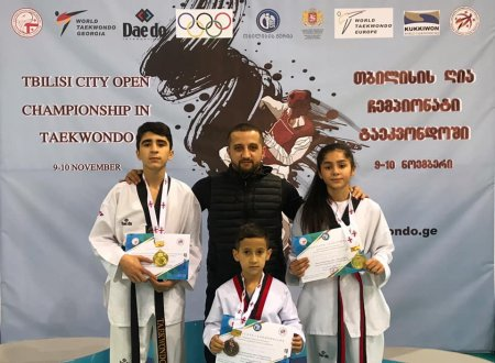 Masallı taekvondoçuları Tbilisidə keçirilən beynəlxal turnirdə 2 qızıl, 1 bürünc medal qazanıblar
