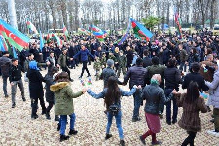 Masallıda gənclər təntənə ilə Milli Orduya yola salınıb
