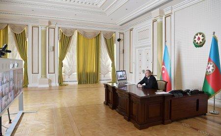 Prezident İlham Əliyevin sədrliyi ilə videokonfrans şəklində müşavirə keçirilib