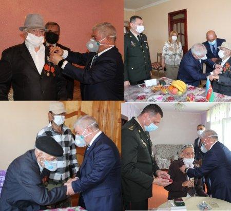 Masallıda Böyük Vətən Müharibəsi veteranları evlərində ziyarət olunub