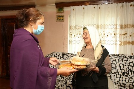 Kənd qadınlarının koronavirusla mübarizəyə sosial dəstək aksiyaları