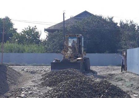 Masallının Xırmandalı kəndində yolların təmirinə başlanılıb