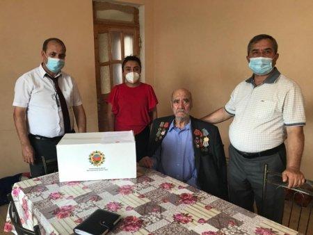 Masallıda Böyük Vətən müharibəsi veteranlarına ərzaq sovqatları paylanılıb