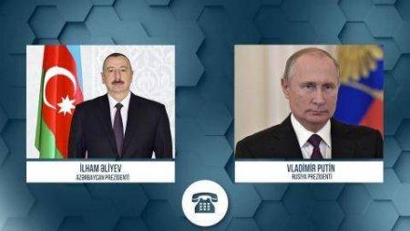 Prezident İlham Əliyev Rusiya Prezidenti Vladimir Putinə telefonla zəng edib