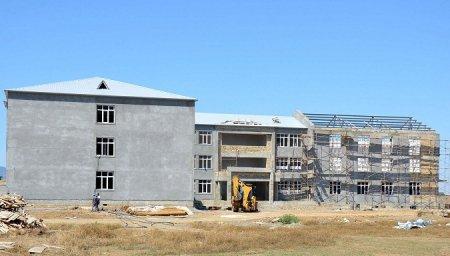 MASALLI - Boradigah qəsəbəsində yeni məktəb binası tikilir