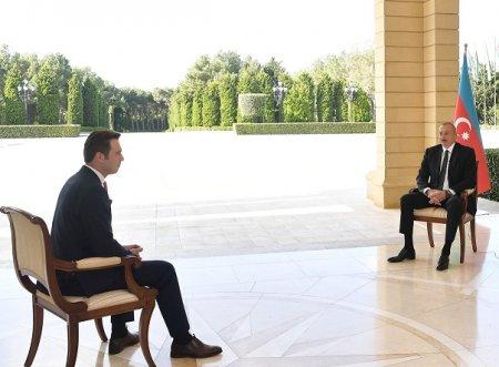 """Prezident İlham Əliyevin Türkiyənin """"Haber Global"""" televiziya kanalına müsahibəsi"""