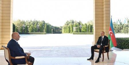 """Prezident İlham Əliyevin Türkiyənin """"Haber Türk"""" televiziya kanalına müsahibəsi"""