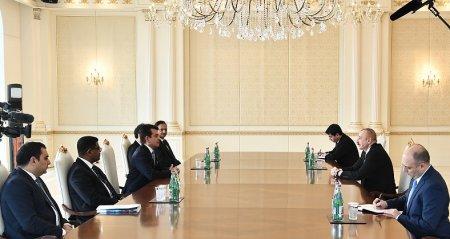 Azərbaycan Prezidenti İlham Əliyev ICESCO-nun Baş direktorunun rəhbərlik etdiyi nümayəndə heyətini qəbul edib