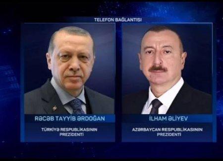 Prezident İlham Əliyev ilə Türkiyə Respublikasının Prezidenti Rəcəb Tayyib Ərdoğan arasında telefon danışığı olub