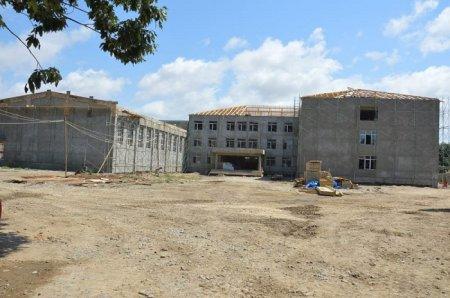 Masallının Qızılağac kəndində 528 yerlik yeni məktəb binası tikilir